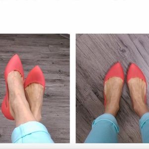 Crocs Rio Coral Pink Comfy Ballet Point Flats 10W